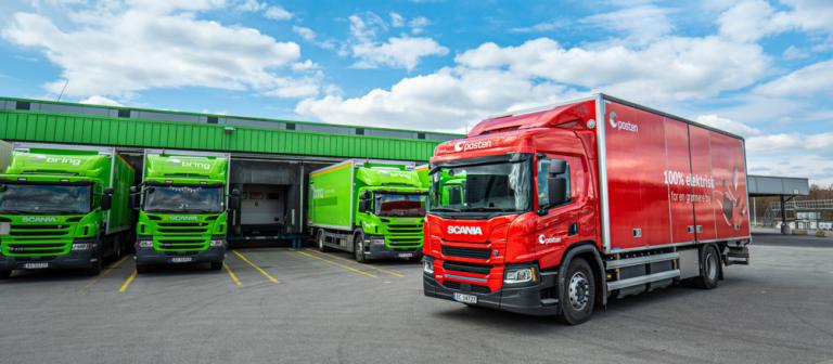 Posten Norge בוחנת את המשאית החשמלית של סקניה